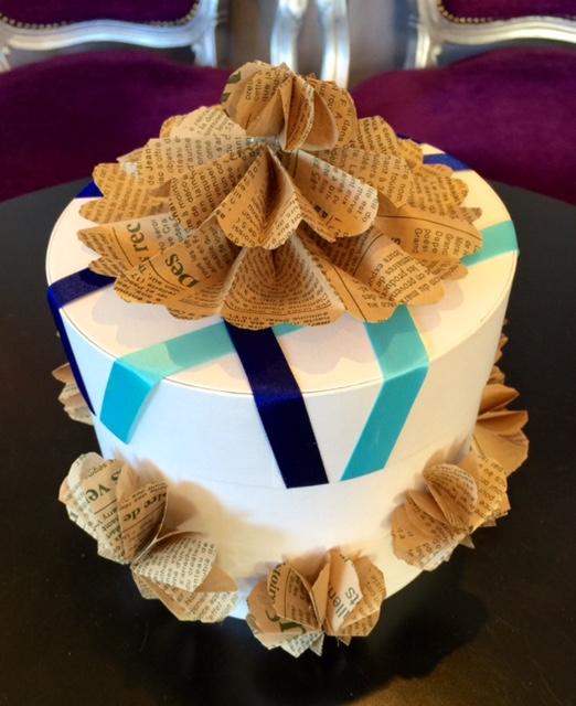 paper wheelでボックスを装飾
