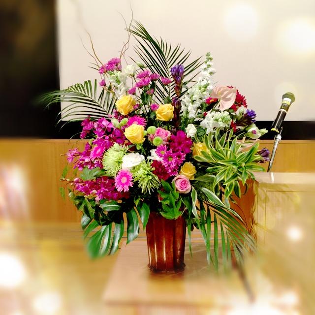 表彰式の花